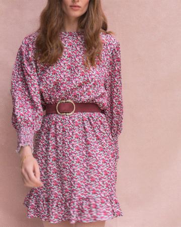 Robe Fleurie Rose