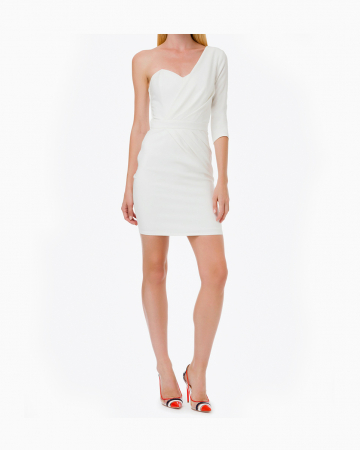 Robe One Shoulder White