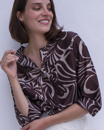 Chemise Primary Tile Brown