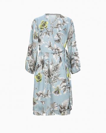 Robe Bleu Floral