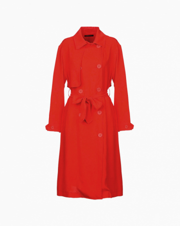 Manteau Long rouge