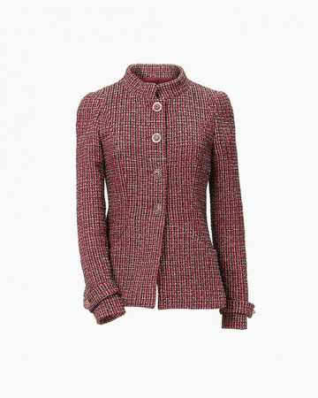 Veste Tweed Bordeaux