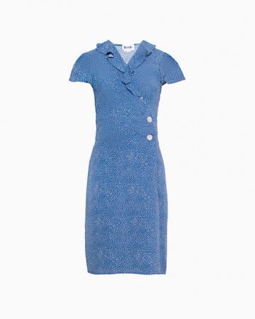 Robe Flore pois crayon bleu