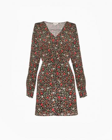 Robe Lana Fleurs