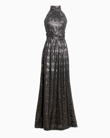 Robe Silver Silk Long