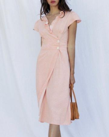 Robe Flores Abricot