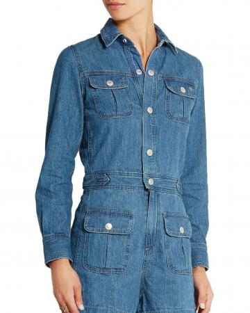 Combi-short en jean Loretta