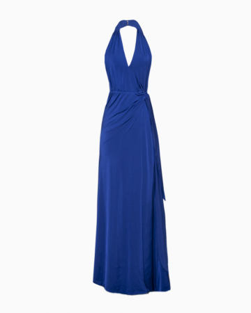 Robe Backless Bleu