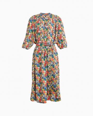 Robe Floral Print Midi