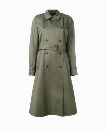 Manteau Trench Kaki