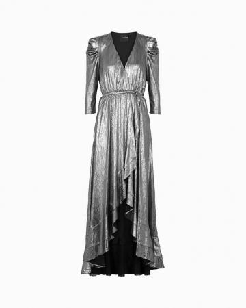 Robe Flora Lamé