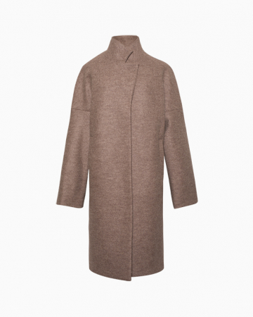 Manteau Long Taupe