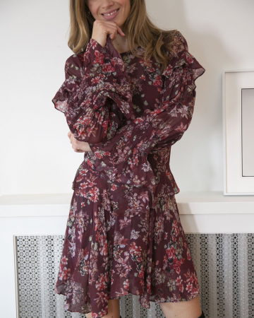 Robe Red Floral