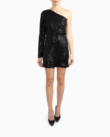 Robe One Shoulder Sequin