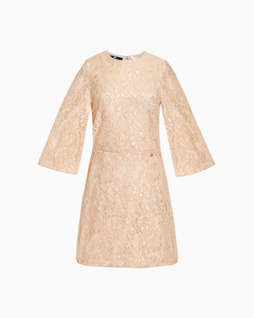 Robe Broderie Anglaise Beige