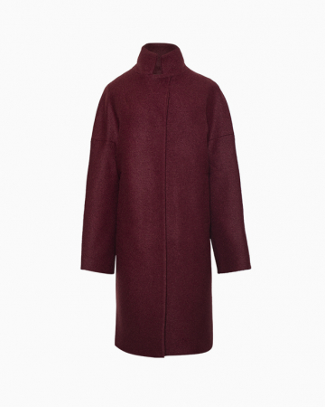 Manteau Long Prune