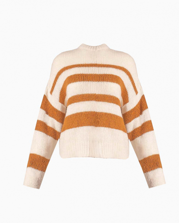 Pull Striped Round Neck Oversized
