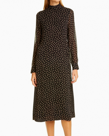 Robe Printed Georgette Midi