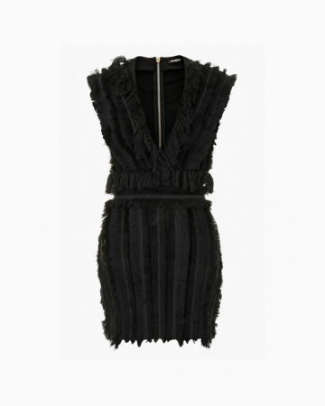 Robe Black Fringe