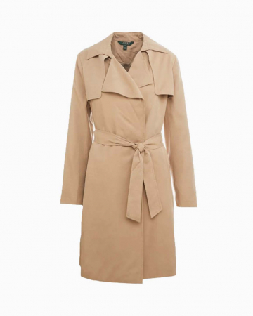 Trench drape lapel wrap
