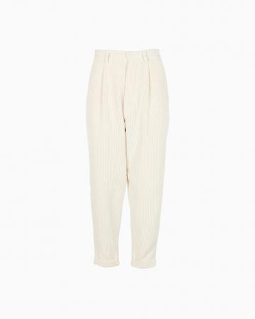 Pantalon Velours Côtelé Blanc