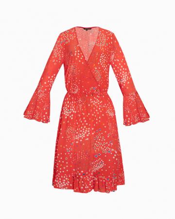 Robe en soie rouge