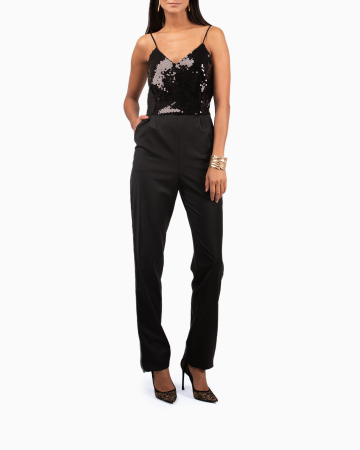 Caraco Sparkle Tiger Black Jumpsuit