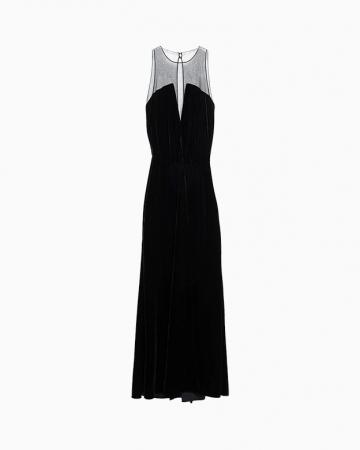 Robe velvet noire