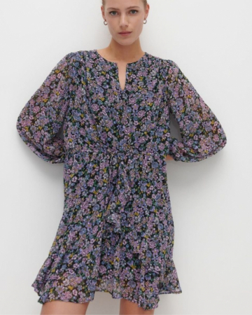 Robe Fleurie Lilas