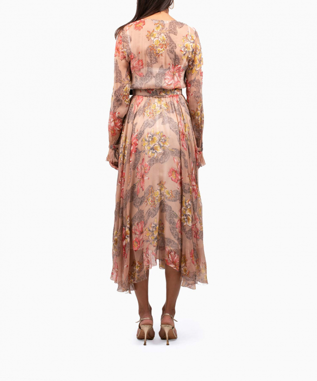Location robe Philosophy Di Lorenzo Serafini Floral Ruffled 3