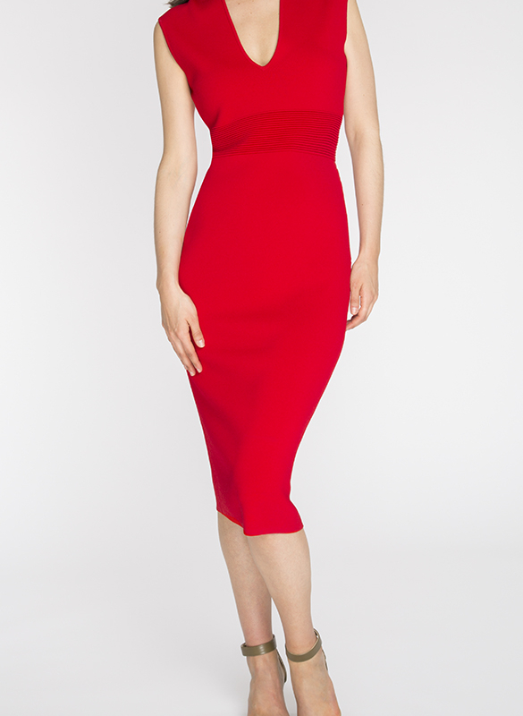 MICHAEL KORS mid-length dress rental Lipstick. This luxurious dress has a feminine cut and an intense red color that will sublimate your silhouette for an elegant and sensual result. 2