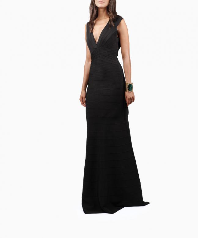 Location robe longue Hervé Léger Roma 4