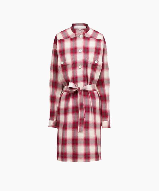 Location robe VANESSA BRUNO Maya Aubergine 1