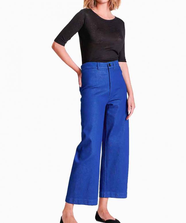 Location pantalon BELLEROSE Lotan Bleu Fonce 1