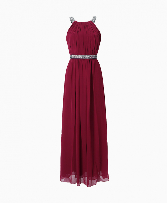 BCBG long dress rental Burgundy Stone. 1
