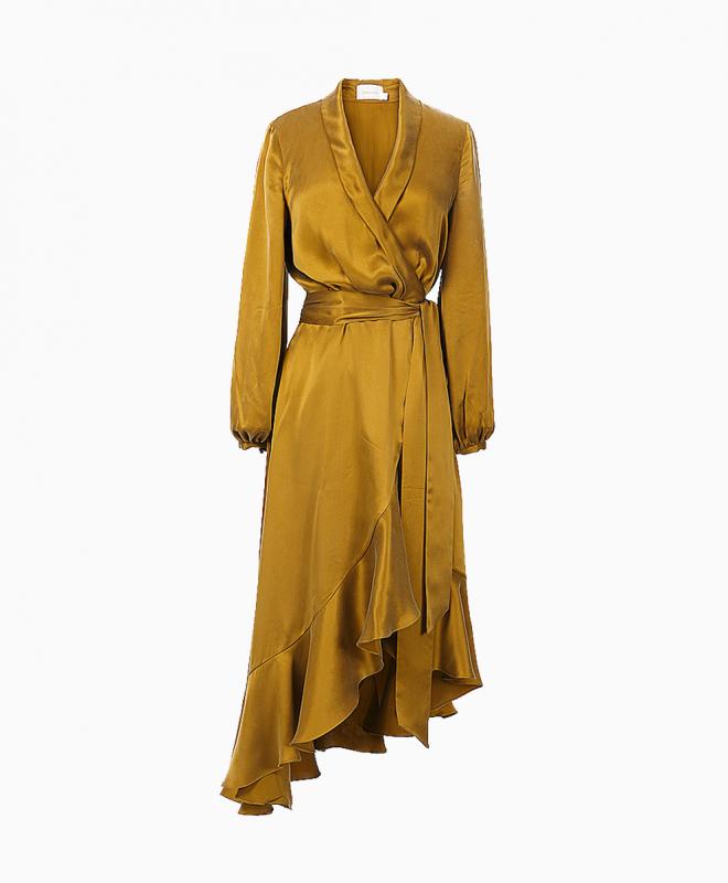 Location robe Wrap Flounce Bronze 1