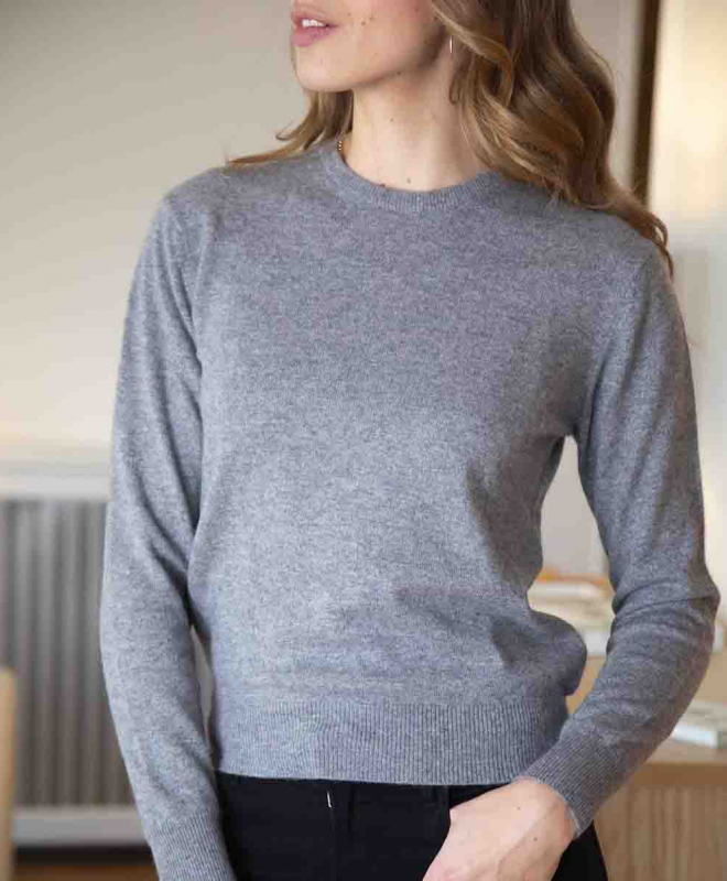 Location pull ERIC BOMPARD Cachemire Crew Neck Gris 3