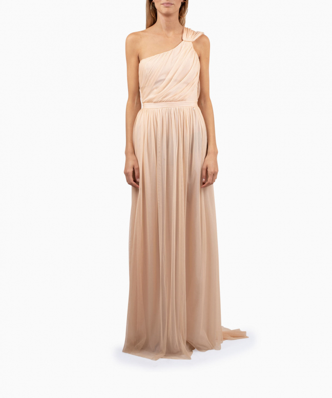 ELISABETTA FRANCHI long dress rental Blush. 2