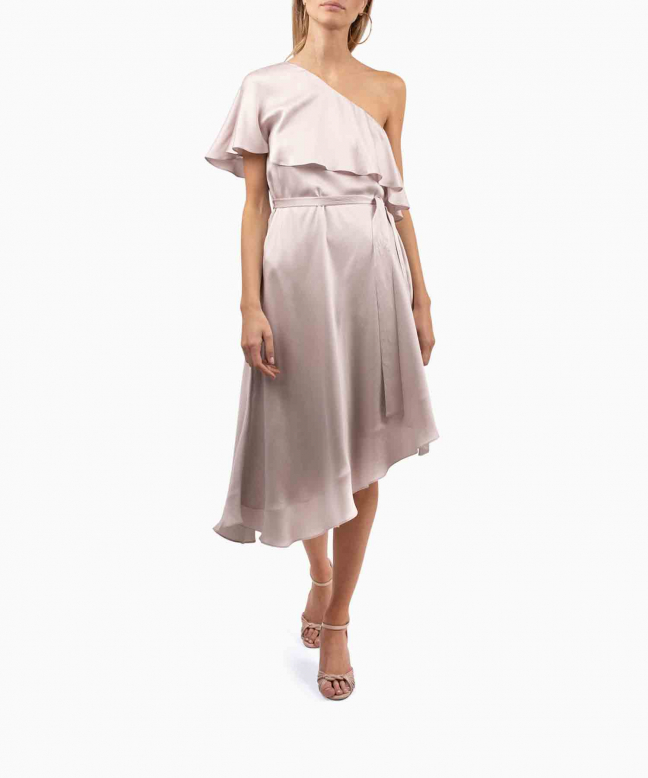 Location robe Zimmermann One Shoulder Rose 2