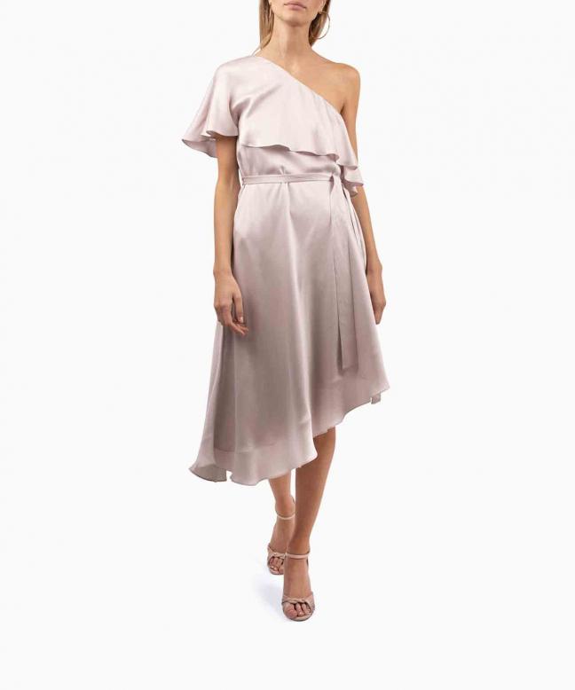 ZIMMERMANN dress rental Pink One Shoulder. 2