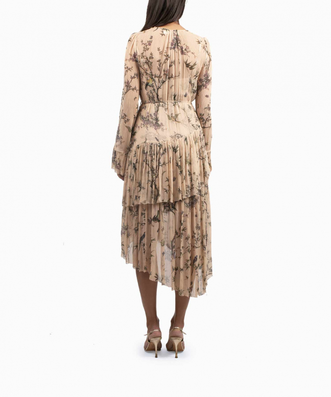 Zimmermann Maples Tier Nude dress rental 3