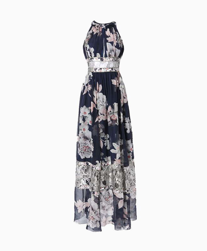 LEONARD long dress rental Celeste. 1