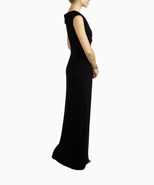 Location robe Ralph Lauren Crepe Off Shoulder 4