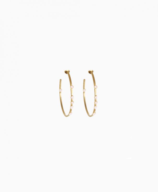 FABIEN AJZENBERG earrings rental Hoops 6 Stones. 1