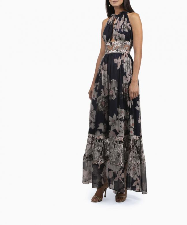 LEONARD long dress rental Celeste. 2