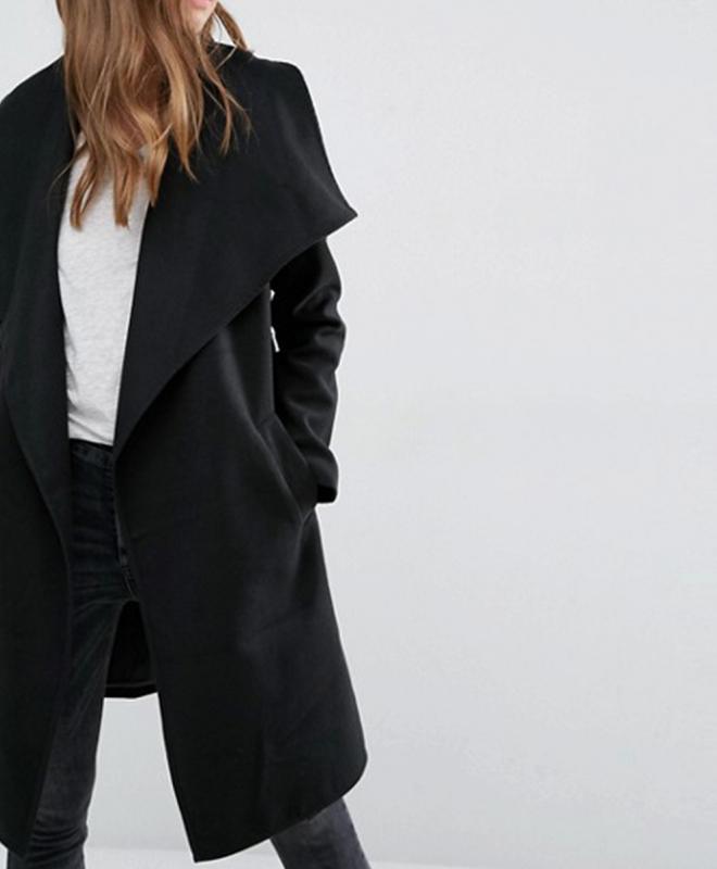 Location manteau croise noir JDY 4