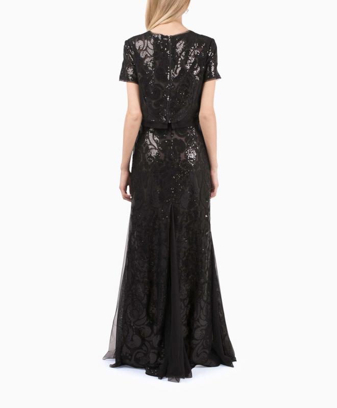 BCBG long dress rental Maris. 2