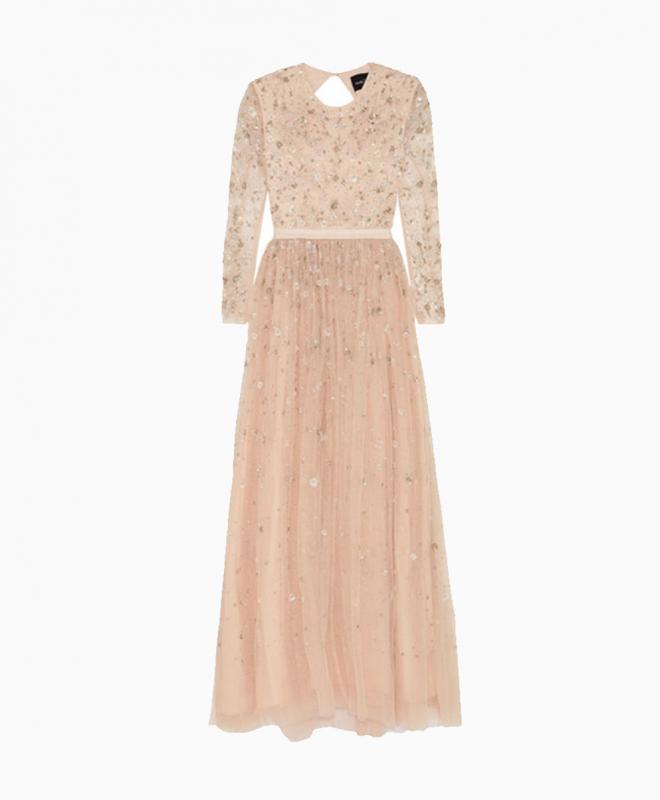 NEEDLE & THREAD long dress rental Celestial. 1