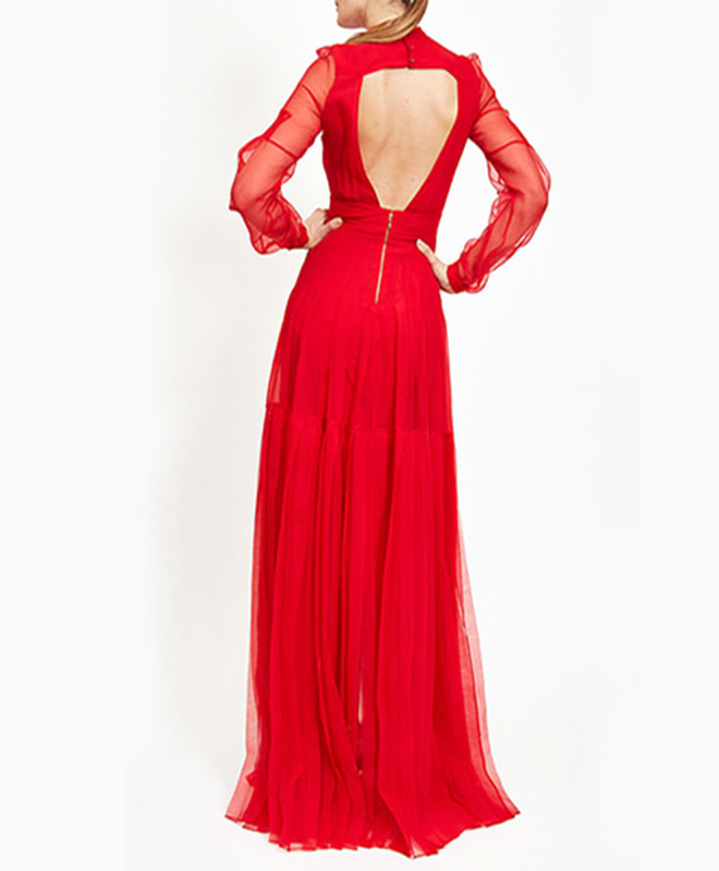 Location robe rouge ROCHAS 3