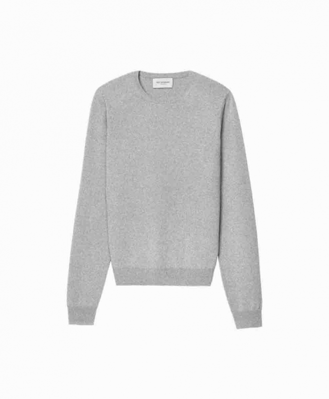 Location pull ERIC BOMPARD Cachemire Crew Neck Gris 1